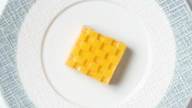 人参ムースケーキの作り方 市松模様 キャロットコンソメゼリー